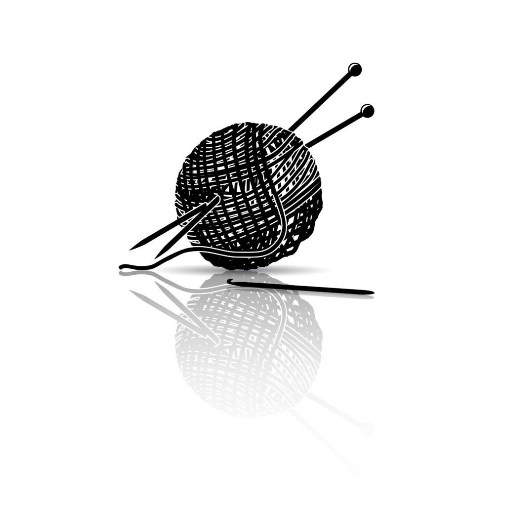 knitting needles & yarn